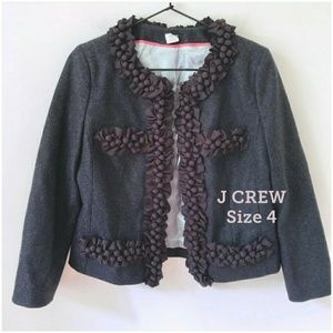 J CREW Astris Berry Trim Jacket / Blazer
